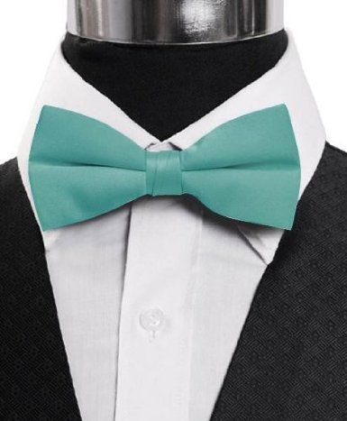 """Amazon.com: Fabulous Men's 2.5"""" Poly Satin Banded Bow Ties 29 Colors :"""