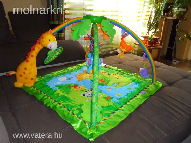 Fisher Price Esőerdős zenélő játszószőnyeg fényjátékkal - Vatera.hu