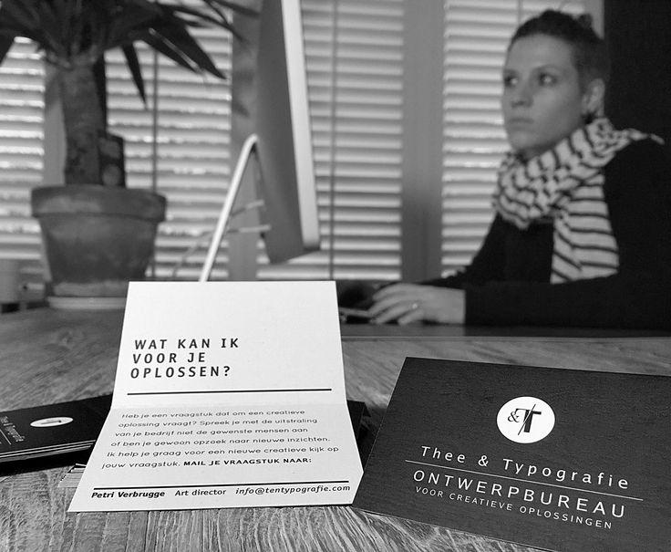 WAT KAN IK VOOR JE OPLOSSEN?  De visitekaartjes waren op! Tijd voor nieuwe.  Mail je vraagstuk naar: info@tentypografie.com  #oplossen #omdenken #creatief #ontwerp #design #grafisch #vlissingen #zeeland