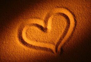 любовь, сердце, песок, сердечко, пляж, Настроения