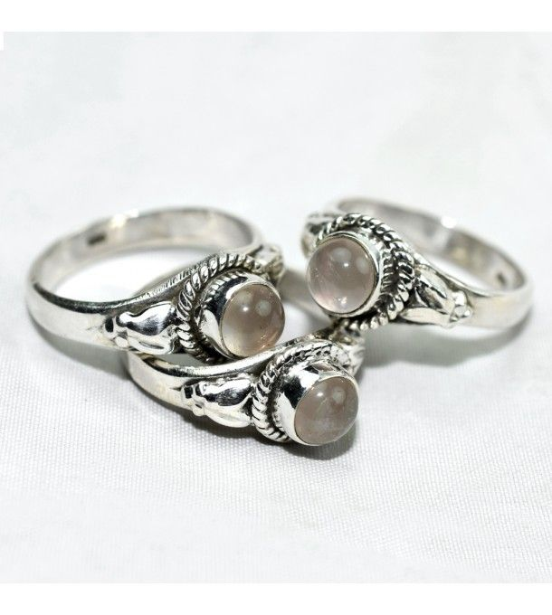scenic !! handmade Round Rose Quartz 925 Sterling Silver Ring  #oxidized #Silver #Ring #offer #banner #Rose #Quartz #jewelry