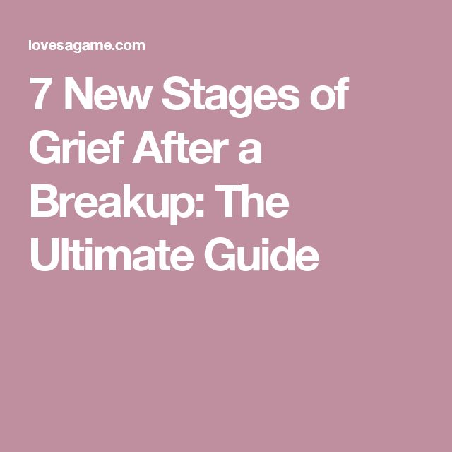 what are the stages of a relationship breakup