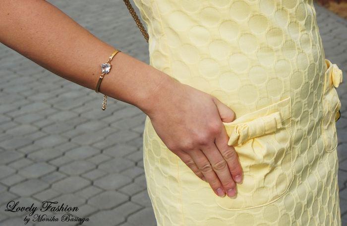bransoletka / bracelet - Mohito (SS'14; gift from my fellow-workers / prezent od koleżanek z pracy:); sukienka / dress - Mohito (SS'12)