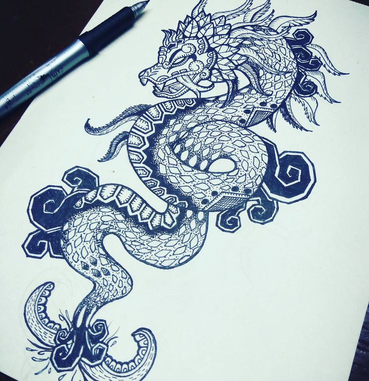 Quetzalcoatl Design for tattoo https://www.instagram.com/miguel_cgutii/