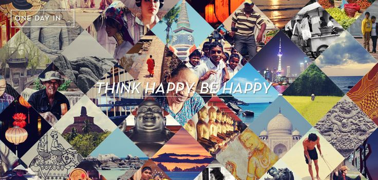 THINK HAPPY. BE HAPPY