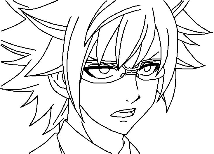 48 Best Images About Fairy Tail Coloring Pages On