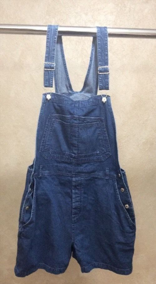 24.74$  Buy here - http://viqhf.justgood.pw/vig/item.php?t=pnwznxm0993 - Marsh Landing Women's Bibbed Overalls Blue Jean Romper Sz Lg Shorts Denim