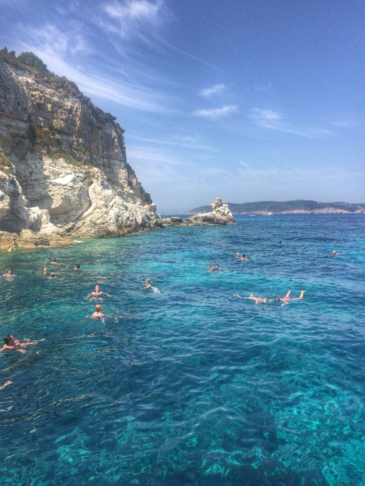 Swimming off the coast of Antipaxos, Greece  #greece #summer #beauty #travel