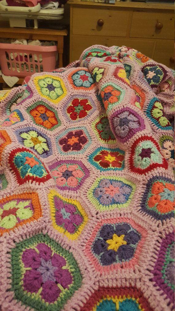 Unique Handmade King Size Blanket by PoppysCwtch on Etsy