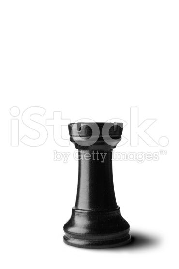 Chess: Rook (Black) royalty-free stock photo