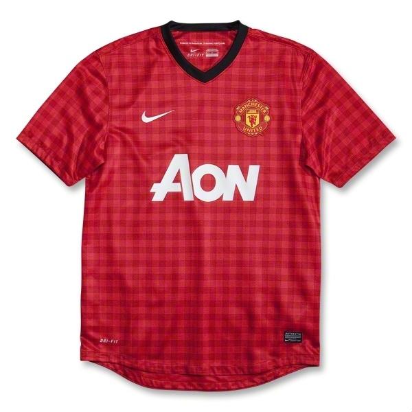 Manchester United 12/13 Home Soccer Jersey - WorldSoccerShop.com
