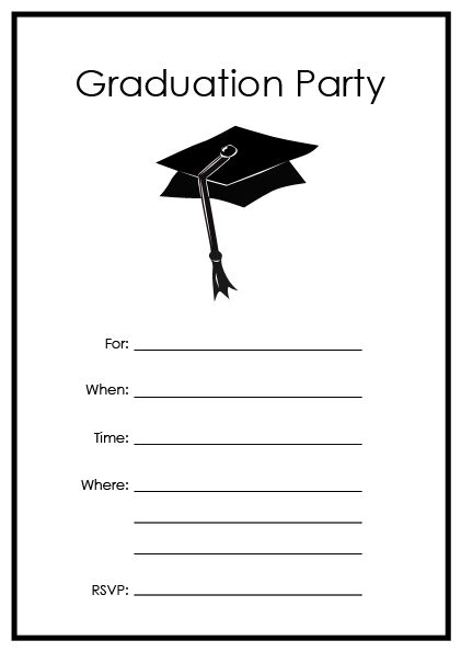 Free Printable Graduation Party Templates Invitations Fashion