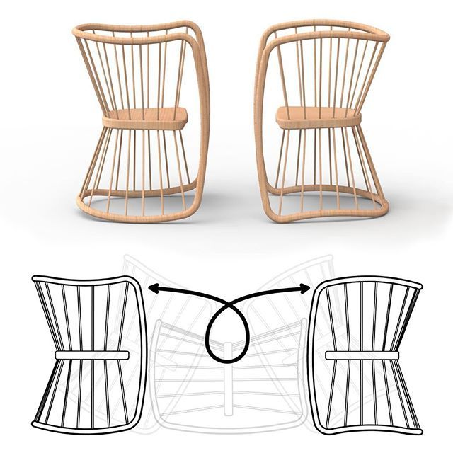 The seat doesn't attach to the frame/legs in any traditional way. Instead relies on the tension and compression through the spindles to locate the double sided seat.