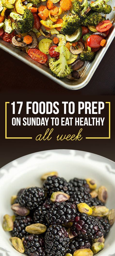 No joke - food prep is challenging! Here are 17 Foods to Prep on Sunday so you can eat healthy all week!