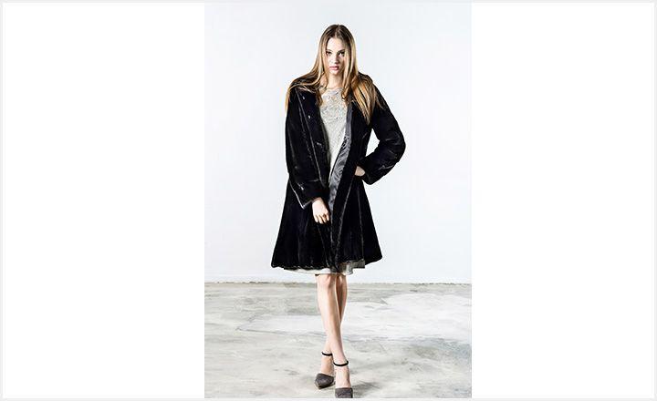진도모피(JINDO Fur), 후드 쉐이프 플레어 밍크 코트 제안