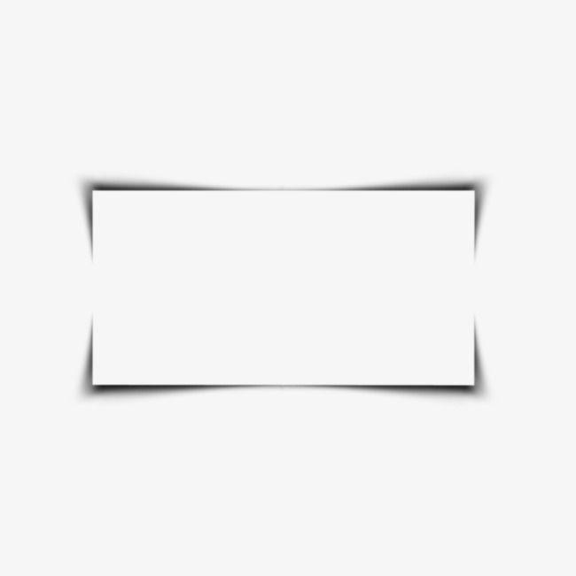 Square Border, Black, Shadow, Simple PNG Transparent Image