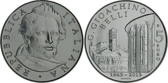 Mundial de Monedas Noticias: San Marino € 5 2013 - Giuseppe Gioachino Belli