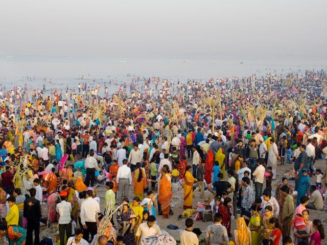 Chhat Puja : an ode to the sun god, a festival celebrated with fasts and prayers.
