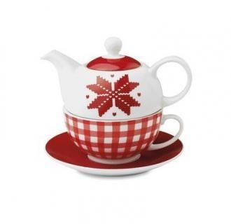 Set ceainic Nordic Tea cu ceasca cu model floral. Set de #ceainic cu #ceasca cu model floral, ambalat in cutie asortata cu posibilitate de #personalizare. Ceainicul are un volum de 400 ml, perfect pentru un #ceai in 2 persoane. Cutia se poate personaliza cu #logo-ul si datele companiei, putand constitui un cadou foarte potrivit de #sarbatori.