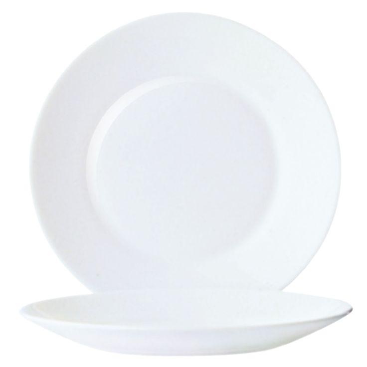 Arcoroc Opal Restaurant Wide Rim Plates 155mm - DP067