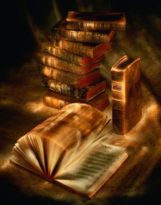 Beautiful picture - What I think all books look like in my head. They are all magical and open a new world!