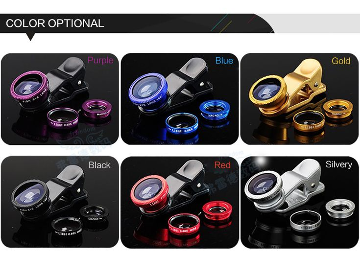 Universal camera lens 3 in 1 Wide Angle fisheye for be employed all mobile phone
