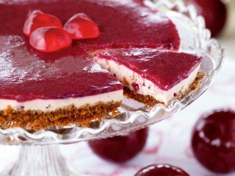 Cheesecake, lingon och kardemumma Receptbild - Allt om Mat