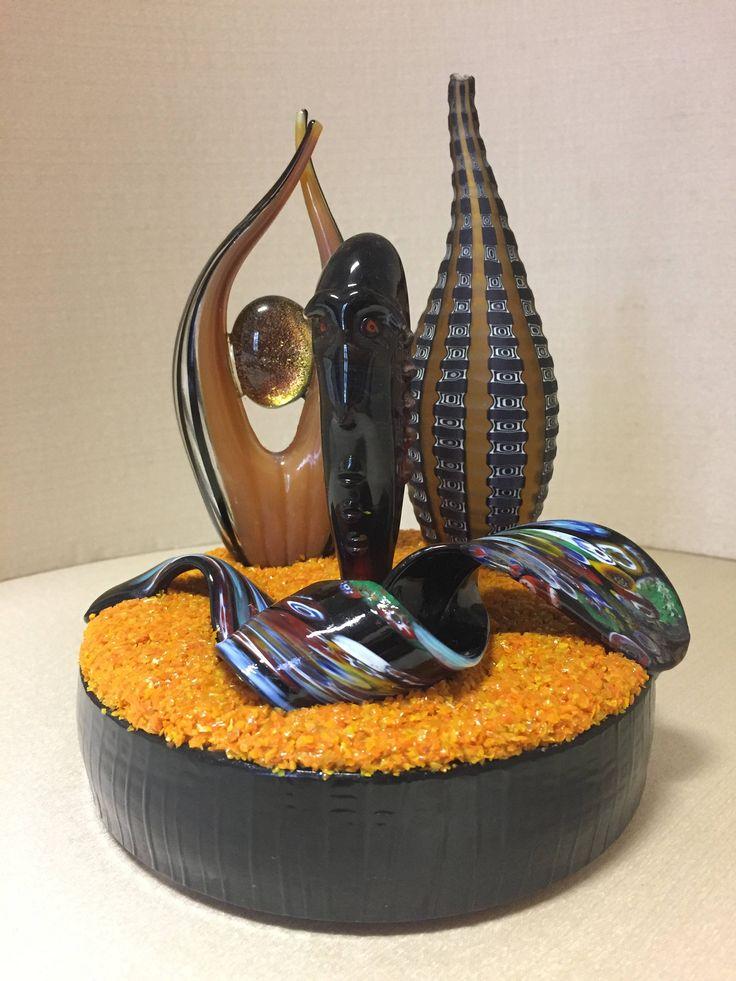 Scultura in vetro - nastro in vetro - murano glass - murrine - filigrana -scultura astratta in vetro di Sanmarcoartedesign su Etsy