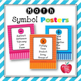 Keywords: math, math symbols, addition, subtraction, multiplication, division, math vocabulary, classroom decorations, classroom decor, first grade, second grade, third grade, fourth grade, home school, special education, resources, teaching resources