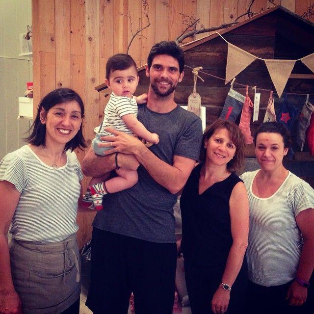 Mark Philippoussis and gorgeous son Nicholas visit the Chadstone Purebaby store Via Instagram @purebabyorganic