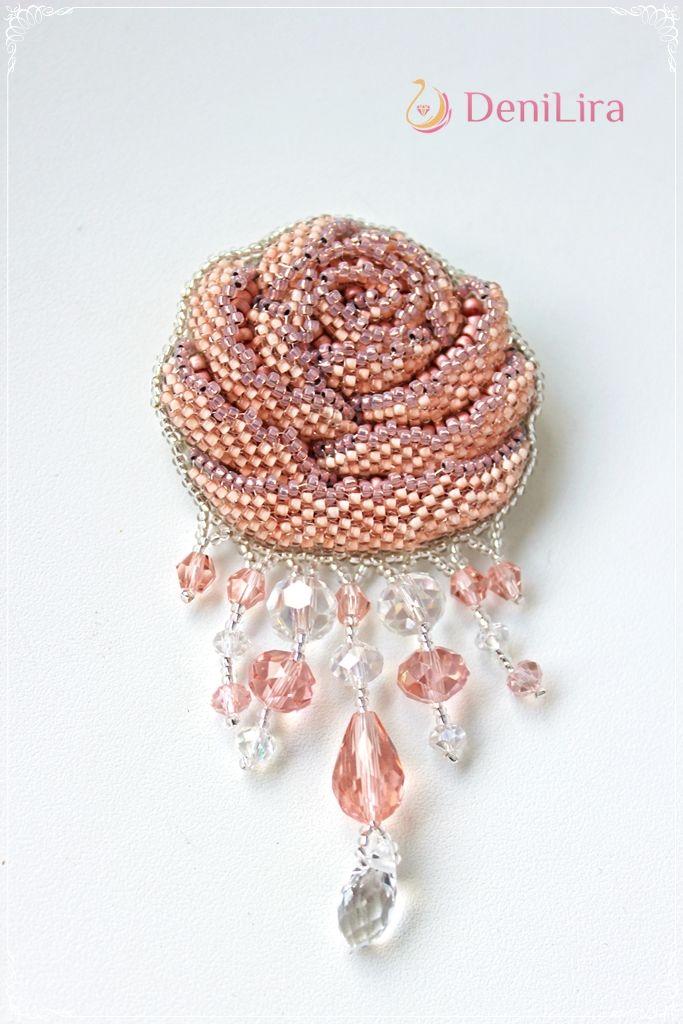"Брошь ""British Rose"" vol.2 - 3D | biser.info - всё о бисере и бисерном творчестве"