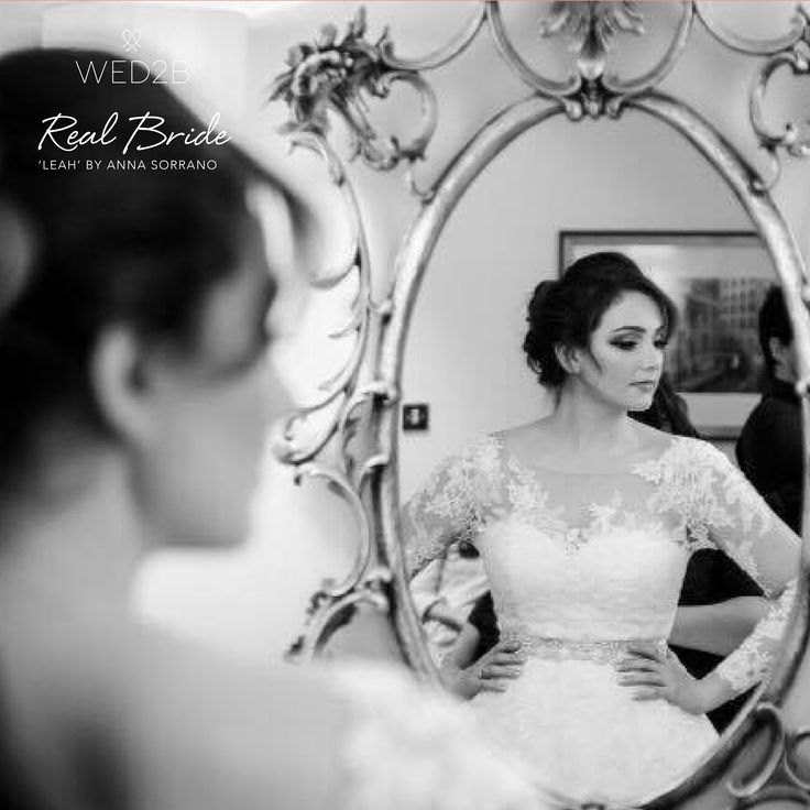 A beautiful photo of real bride Luna in 'Leah' by Anna Sorrano 🌸 Please share your photos with us by emailing info@wed2b.co.uk 🌸