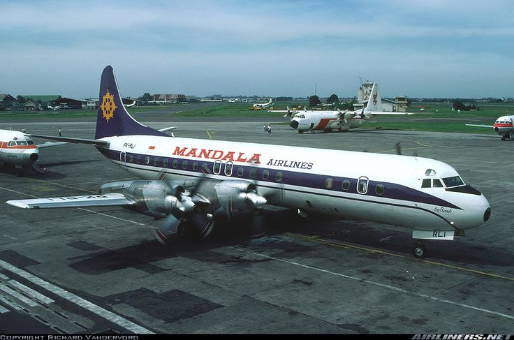 Mandala Airlines Lockheed L-188C Electra aircraft picture @Kemayoran Airport (closed)
