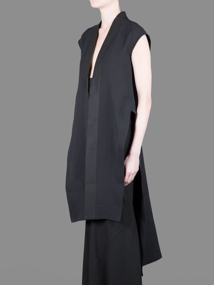 Rick Owens long silk beach mantle with side slits #rickowens