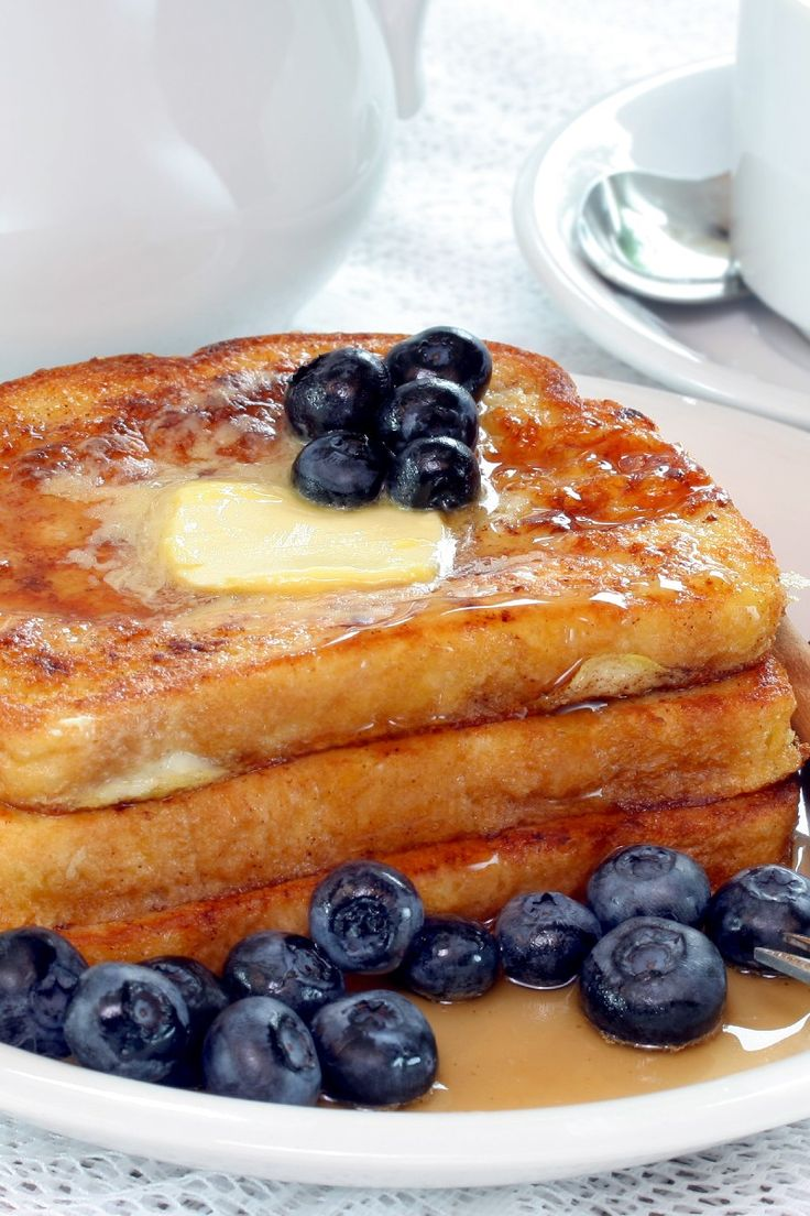 French Toast | KitchMe Sub almond/coconut milk and think homemade bread. A little more would have helped for 8 slices