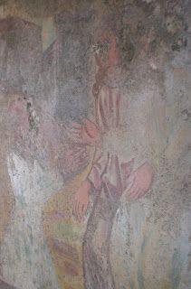 Un fresco maravilloso aunque en mal estado de la Ermita de San Jorge.