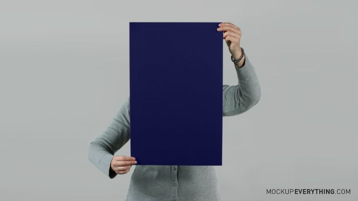 Poster with Hands - Free Mockup Template from ...