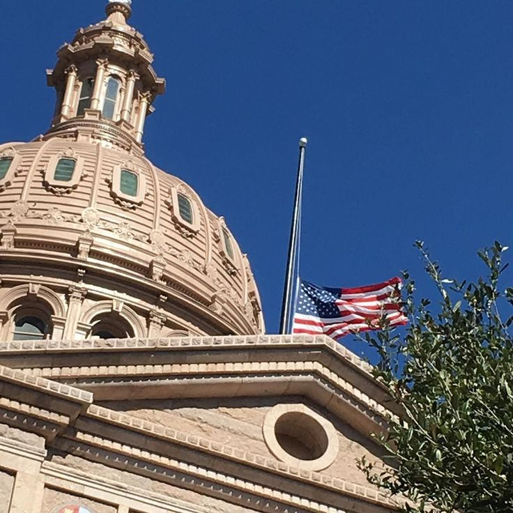 Flag at the Texas Capitol was fitting leave flying at half mast today!