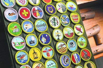 A Merit Badge Sash With Merit Badges Boy Scouts
