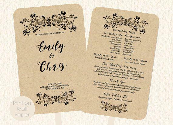 19 best WEDDING FAN PROGRAMS images on Pinterest