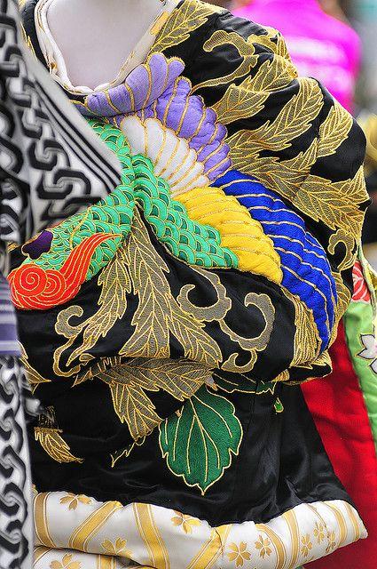 The detail of Oiran's kimono