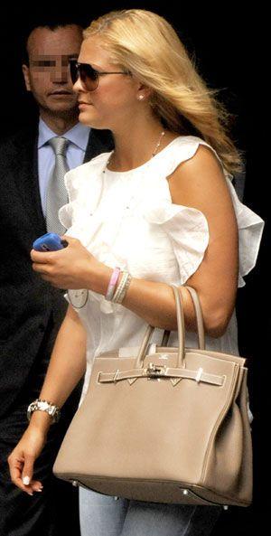 Princess Madeleine of Sweden and Hermès Birkin