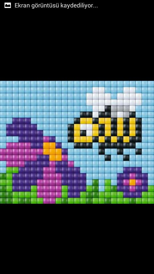 Bee cross stitch.