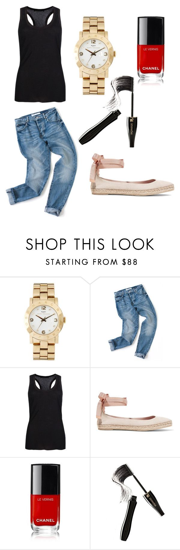 Untitled #40 by leenap on Polyvore featuring AllSaints, AERIN, Marc by Marc Jacobs and Lancôme