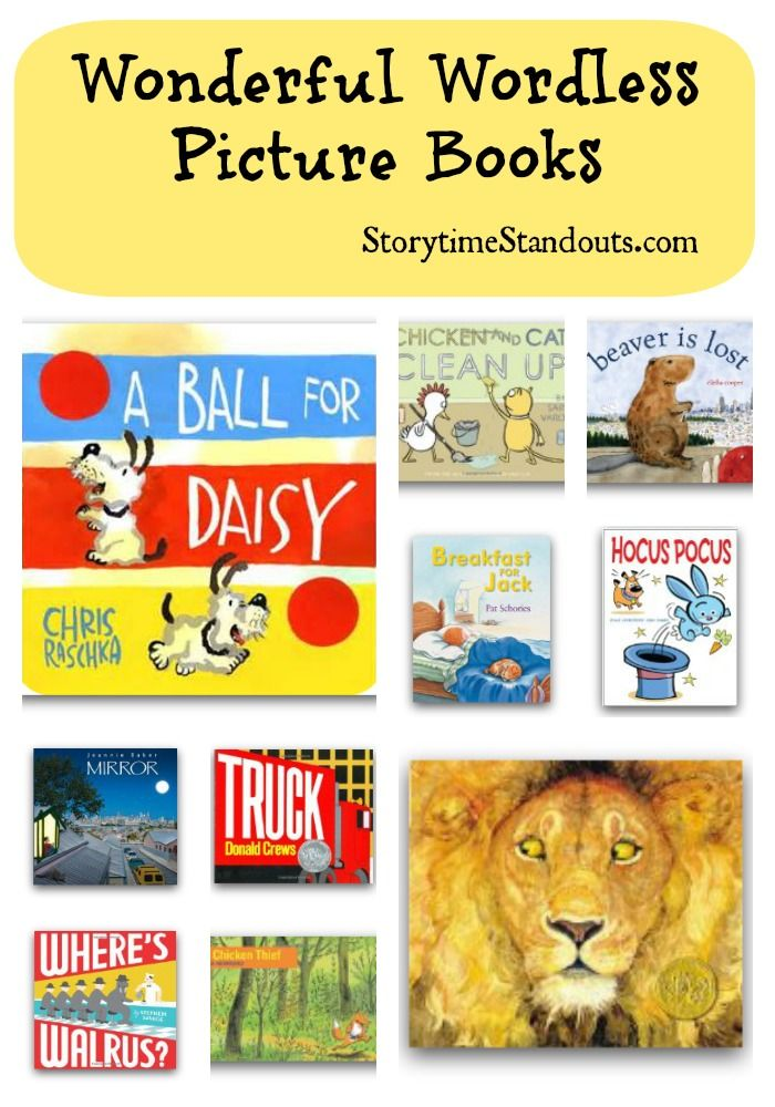 StorytimeStandouts shares an outstanding annotated selection of wonderful wordless picture books!  Use #wordlesspicturebooks at home or in a classroom to stimulate #reading #comprehension and language development plus encourage reconstructing and retelling.  Readable in any language or many languages, perfect for #ELL #kidlit  #childrensbooks