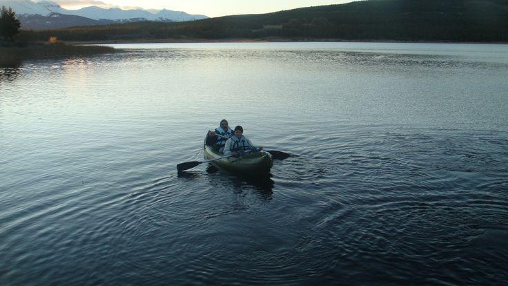 Navegando en la Laguna La Zeta