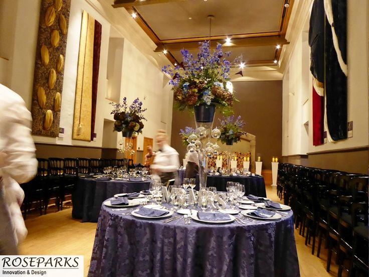 Wedding Reception Flowers In Queen Anne Room At Edinburgh Castle