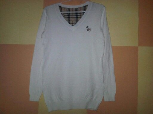 #Sweater Doggie Import Lengan Panjang (B060) ~ 120ribu. Warna : putih. Bahannya bagus & halus. Bahan rajut. Fit sampe L (LD=84cm, Pjg baju=60cm)