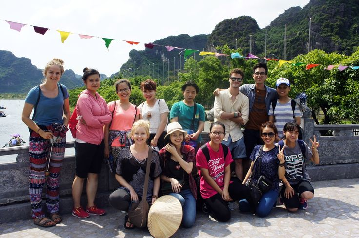 The team headed to the next destination, Trang An