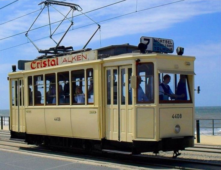 Vintage Tram no. 4408 in Belgium, longest tram rail route in the world